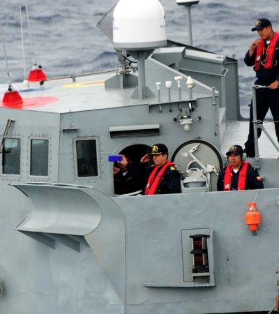 Recibe Marina el barco sargacero que utilizará en Quintana Roo
