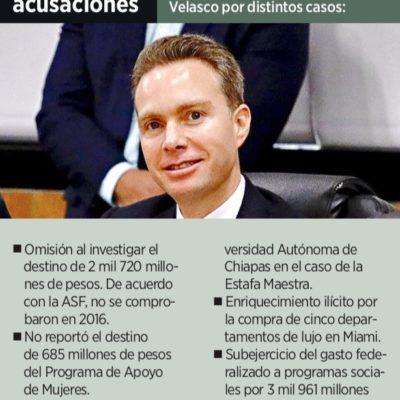 DEMANDAN INDAGAR DESVÍO DE VELASCO: Piden descongelar denuncia por enriquecimiento ilícito del ex Gobernador de Chiapas