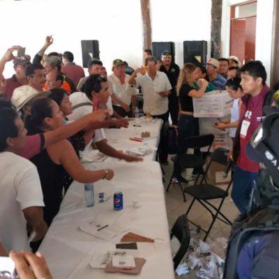 COBERTURA | Revientan elección de consejeros de Morena en Chetumal