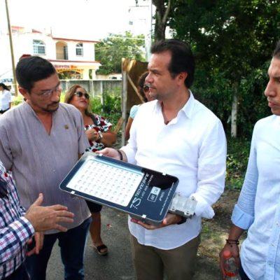 Supervisa Pedro Joaquín avances en la rehabilitación del 'Alumbrado 95 Avenida Sur'