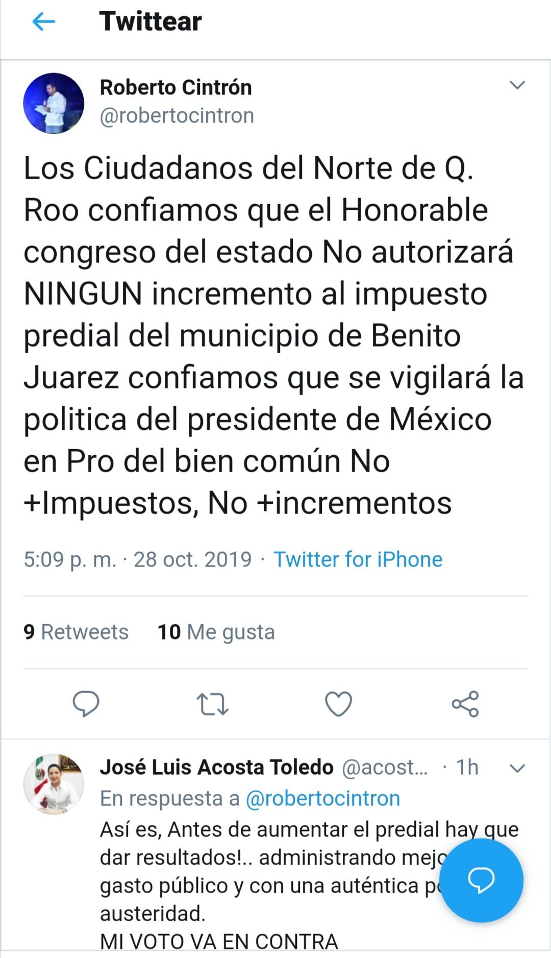 Líder de hoteleros pide al Congreso no permitir aumento del predial en Cancún