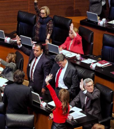 Da el Senado luz verde a reformas de revocación de mandato presidencial y consulta popular