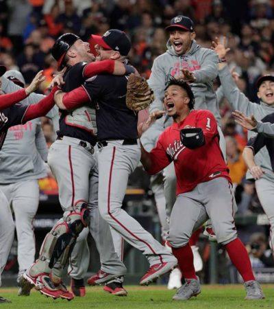 Conquistan Nacionales de Washington su primera Serie Mundial
