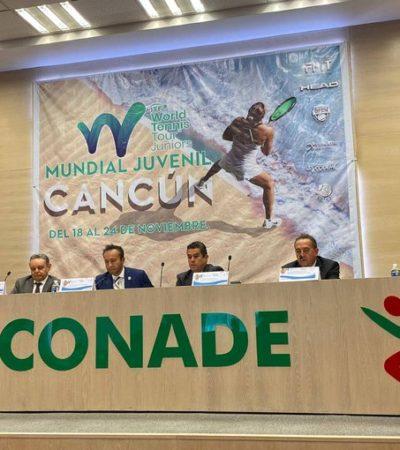 Anuncia Conade que Cancún será sede del Mundial Juvenil de Tenis 2019