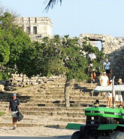 Zonas arqueológicas de Tulum y Cobá figuran entre las cinco más visitadas del país, revela Sectur