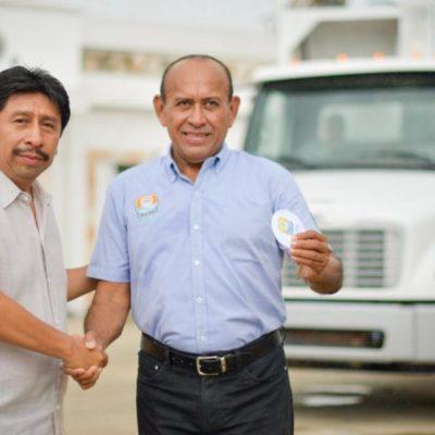 Incrementa a 14 unidades el parque vehicular de Servicios Públicos de Tulum al recibir dos nuevos camiones
