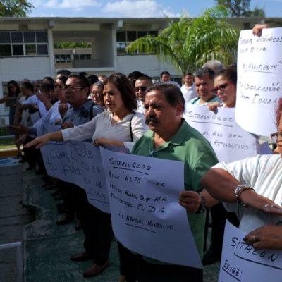 Maestros del Conalep exigen pago al desempeño docente y amagan con paro nacional