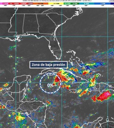 SE DEBILITA SISTEMA  DE BAJA PRESIÓN FRENTE A COSTAS DE QR: Fenómeno meteorológico no encontró condiciones para desarrollo ciclónico, aunque provocará lluvias en la Península de Yucatán
