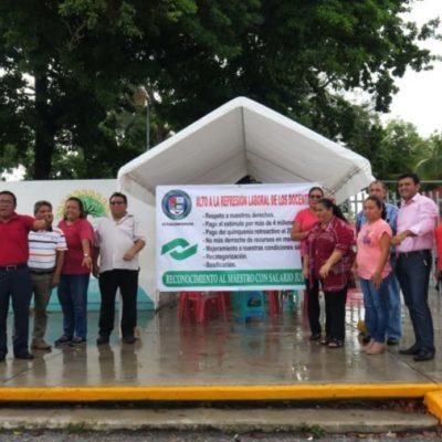 Maestros sindicalizados del Conalep declaran paro indefinido de labores en Cancún, ante falta de diálogo con autoridades