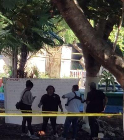 AVIENTAN MUERTO EN LA CARA DE LOS SOLDADOS: Dejan cabeza humana con una narcomanta enfrente del 64 Batallón de Infantería en Cancún