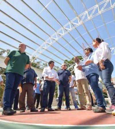 Con una inversión de 10 mdp, construyen cuatro domos en comunidades y escuelas de Tulum.