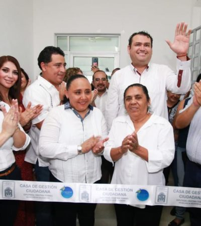 ABRE DIPUTADA 'CASA DE GESTIÓN' CIUDADANA EN PLAYA: Llama Cristina Torres a sumar esfuerzos desde el Legislativo para trabajar por la gente