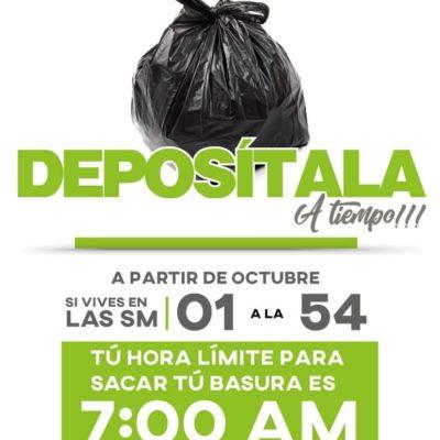 Anuncian horarios de recolección de basura en Cancún como parte de programa piloto que busca implementar la separación de residuos