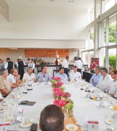Se reúne Víctor Mas con empresarios para analizar temas de sustentabilidad, promoción turística e inversión mobiliaria para Tulum