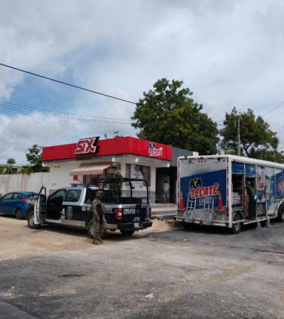 A punta de pistola, asaltan camión repartidor de cervezas en la SM 227 de Cancún