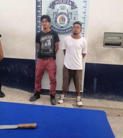 Detienen a dos tras acuchillar a un hombre en la SM 240 de Cancún