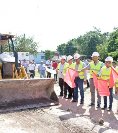 Con inversión de 3.1 mdp, inicia pavimentación de calles en la colonia Tumben Káh en Tulum