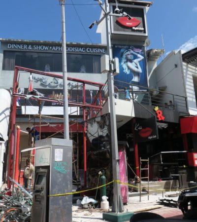 Por orden de un juez, realizan demolición de negocio invasivo en Party Center atribuido a Guillermo del Rosario e Isidro Santamaría