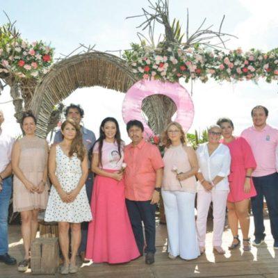 DIF municipal realiza el 'Desayuno Rosa' para contribuir a la prevención del cáncer de mama en Tulum