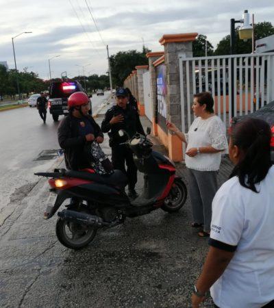 Con apoyo de policías, realizan 'operativo mochila' en el Instituto Tecnológico de Cancún