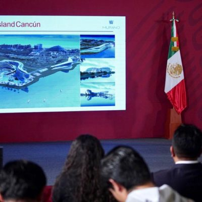 GARANTIZA AMLO SEGURIDAD PÚBLICA DE QR: Al presentar del mega proyecto Grand Island en Cancún, dice Presidente que inversiones turísticas tendrán respaldo federal