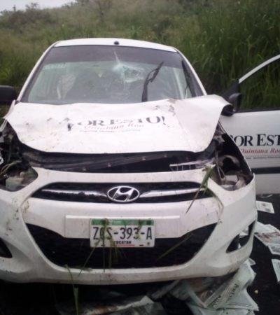 Entre la vida y la muerte trabajador del Por Esto! tras accidente en el sur de QR
