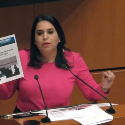 Exige la senadora Mayuli Martínez que López Obrador cumpla con disminuir el IVA en Chetumal