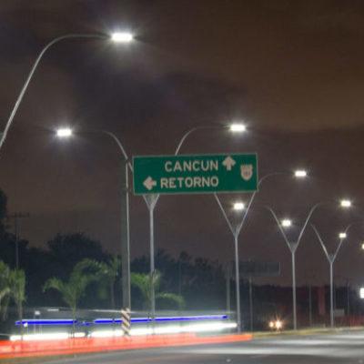 Analizan incluir nuevas zonas de Cancún en el servicio de la concesionaria del alumbrado público