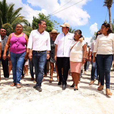 Realiza Gobernador supervisión de obras en Bacalar
