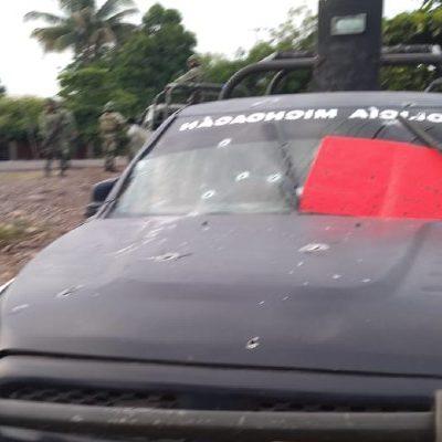 Embosca CJNG a policías en Aguililla, Michoacán; reportan a 14 oficiales muertos