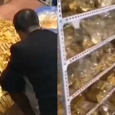Hallan a político chino 13.5 toneladas de oro y 37 mil mdd en efectivo