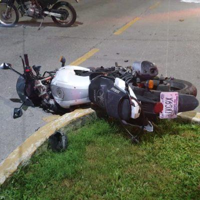 Imprudente motociclista arrolla a dos peatones y pierde la vida en la Zona Hotelera de Cancún