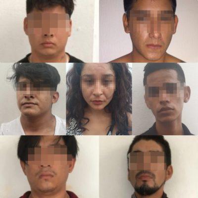 SIETE DETENIDOS POR FALLIDO SECUESTRO EN PLAYA: Aseguran vehículos y armas de fuego tras persecución desde Xcalacoco que terminó con la liberación de dos personas