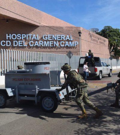 Desalojan hospital de Pemex en Ciudad del Carmen ante falsa amenaza de bomba