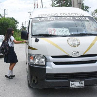 Extienden rutas de transporte público para beneficio de estudiantes en Puerto Morelos