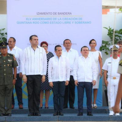 Quintana Roo es el epicentro del turismo en México, afirma Laura Fernandez en el 45 aniversario del estado