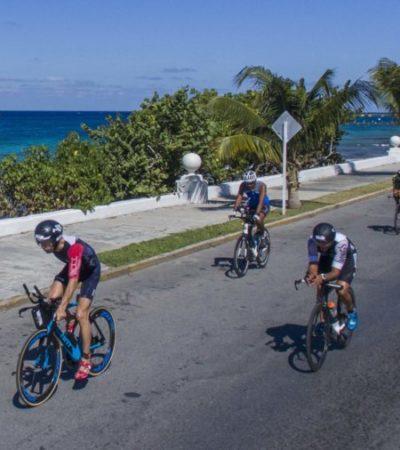 Preparan operativo para garantizar seguridad de participantes del Mazda Ironman en Cozumel