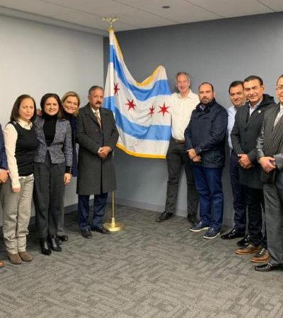 Intercambia Pedro Joaquín experiencias en materia económica, de seguridad y atención de servicios públicos con autoridades de Chicago