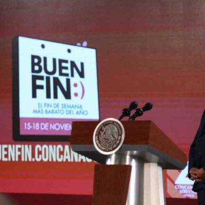 Presentan Gobierno y Concanaco programa El Buen Fin 2019 en la mañanera