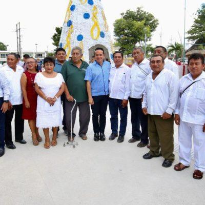 Trabaja Quintana Roo para que el proyecto del Tren Maya impulse el desarrollo de las comunidades indígenas del centro y sur del estado, asegura Carlos Joaquín