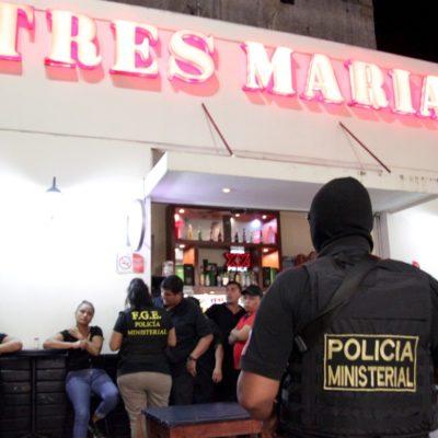 SEGUIMIENTO   ASEGURAN BAR 'TRES MARÍAS' EN ZONA HOTELERA: Detienen a homicida prófugo, decomisa droga y remiten a 10 personas tras operativo antinarcóticos en Cancún