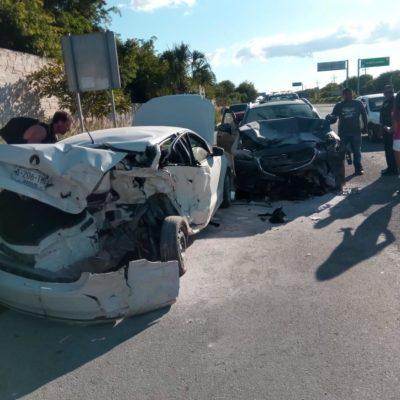 OTRO ACCIDENTE EN CARRETERA: Choque en Akumal deja cuatro heridos