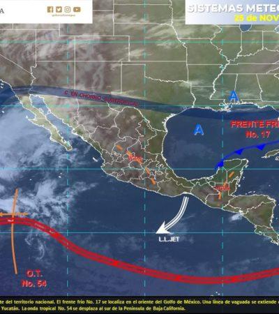 PRONÓSTICO DEL CLIMA: Sube unos grados la temperatura en Quintana Roo