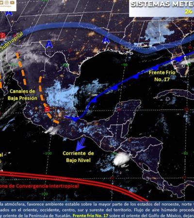 PRONÓSTICO DEL CLIMA: Calor, nublados y posibles lluvias aisladas para este domingo en Quintana Roo