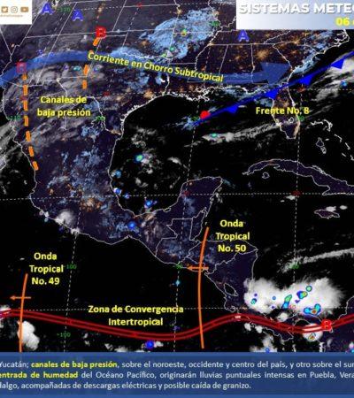 PRONÓSTICO DEL CLIMA: Habrá lluvias aisladas a lo largo del día en Quintana Roo