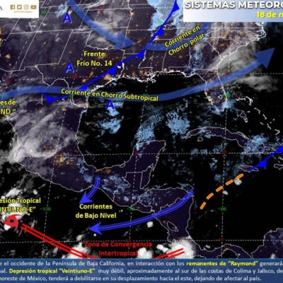PRONÓSTICO DEL CLIMA: Persiste el descenso de temperatura en Quintana Roo