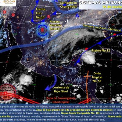 PRONÓSTICO DEL CLIMA: Siguen las lluvias en Quintana Roo; el acumulado de las últimas 48 horas es de 115. 3 milímetros