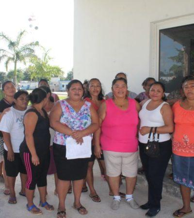 Protestan mujeres contra ejidatarios por cierre arbitrario de comedor comunitario en Valladolid Nuevo