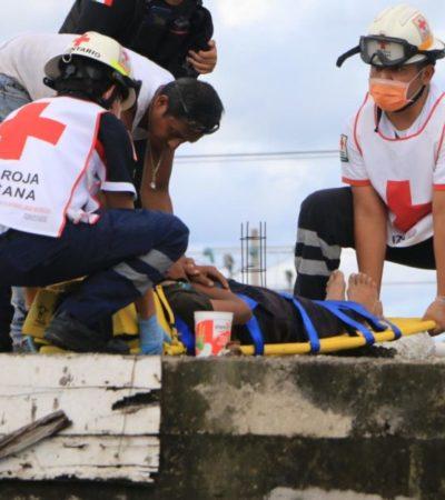 Hospitalizan a adolescente que sufrió descarga eléctrica en Cancún