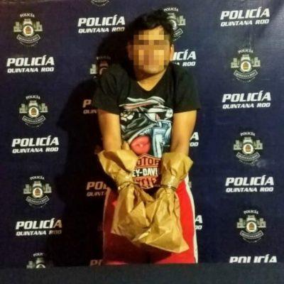 Detienen a supuesto pistolero en zona continental de Isla Mujeres